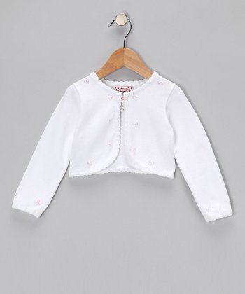 White Crop Cardigan - Infant & Girls