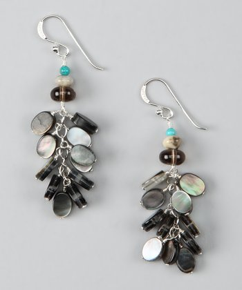 Iridescent Sterling Silver Shale Earrings