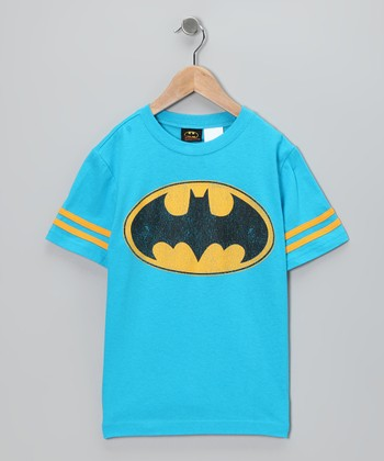 Blue & Yellow Batman Tee - Kids