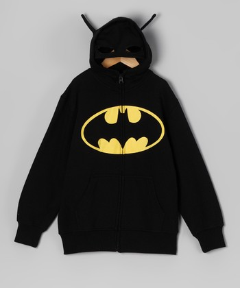 Black Batman Zip-Up Hoodie - Toddler