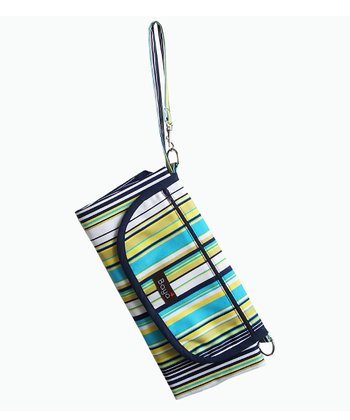Blue Stripe Park Place Diaper Clutch