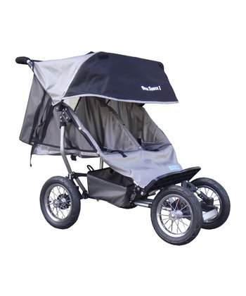 Gray Deluxe Suspension Double Jogging Stroller