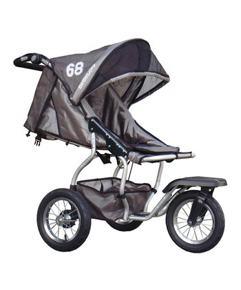 Gray Front Swivel Single Jogging Stroller