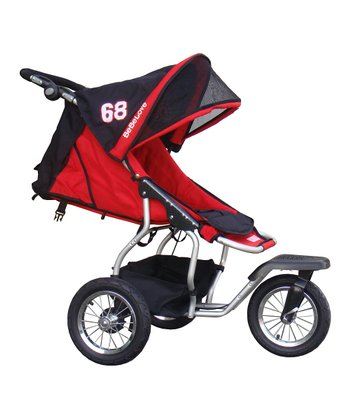 Red Front Swivel Single Jogging Stroller