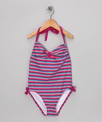Pink Stripe One-Piece
