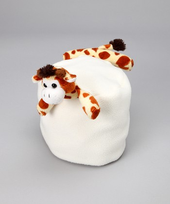 Cream Giraffe Buddy Fleece Beanie