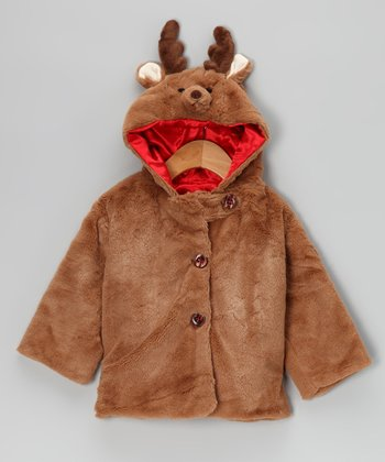 Brown Lil' Reindeer Coat - Infant