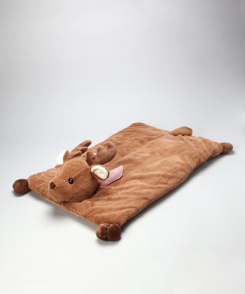 Brown Lil' Reindeer Blanket