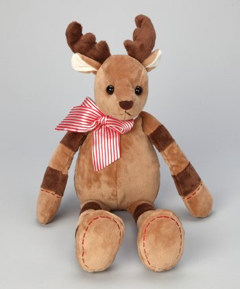 Brown Lil' Stitch Plush Reindeer