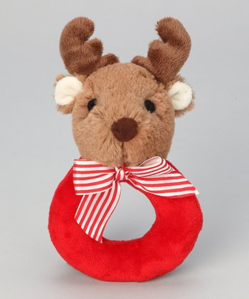 Red & Brown Lil' Reindeer Rattle