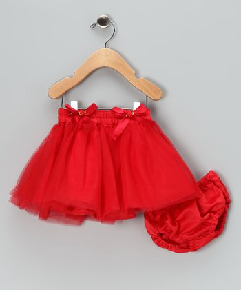 Red Twinkle Tutu & Diaper Cover - Infant