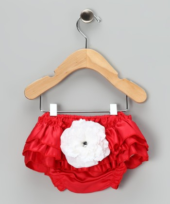 Red Bloom Diaper Cover - Infant