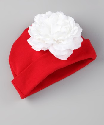 Red Bloom Beanie