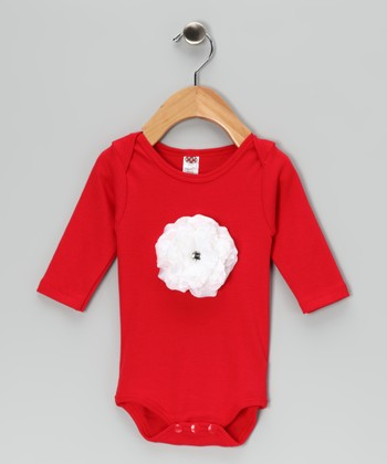 Red Bloom Bodysuit - Infant