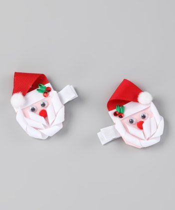 Red Santa Clip Set