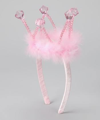 Pink Crown Headband