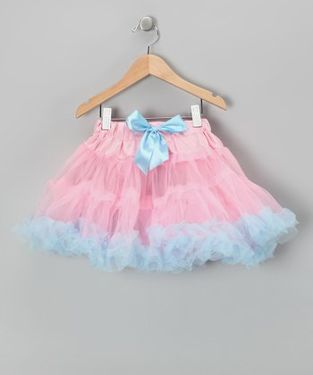 Pink & Blue Pettiskirt - Infant, Toddler & Girls