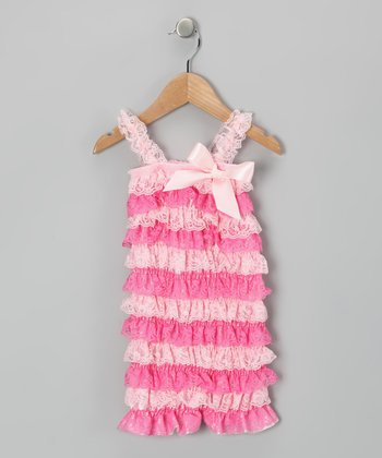 Pink Lace Ruffle Romper - Infant & Toddler