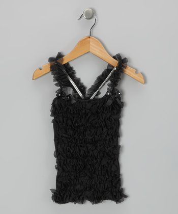 Black Ruffle Tank - Infant, Toddler & Girls