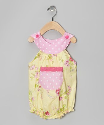 Yellow Rose Bouquet Bubble Bodysuit - Infant
