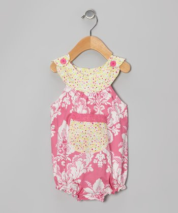 Pink & White Floral Bubble Bodysuit - Infant