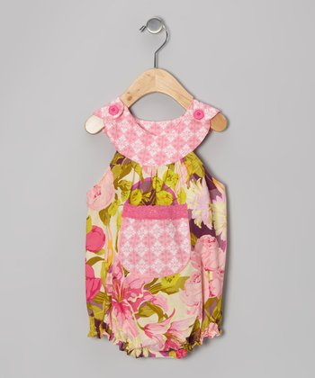 Pink Floral Bouquet Bubble Bodysuit - Infant