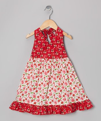 Red Poppy Halter Dress - Toddler & Girls