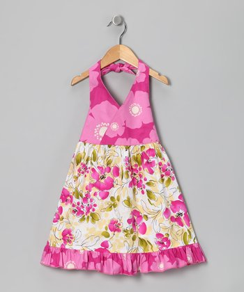 Pink Lily Halter Dress - Toddler & Girls