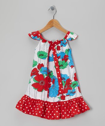 Red Polka Dot Poppy Sundress - Infant, Toddler & Girls