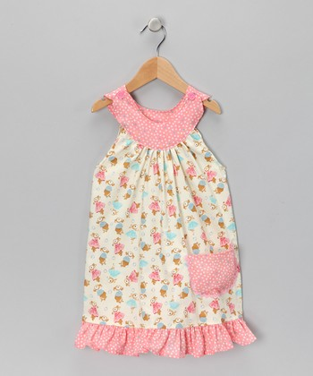 Pink Baby Bunny Trapeze Dress - Toddler & Girls