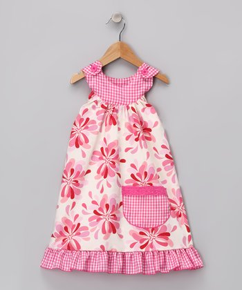 Pink Mum Trapeze Dress - Toddler & Girls