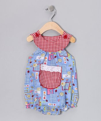 Blue Ladybug Bubble Bodysuit - Infant