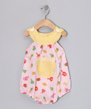 Pink Veggie Garden Bubble Bodysuit - Infant