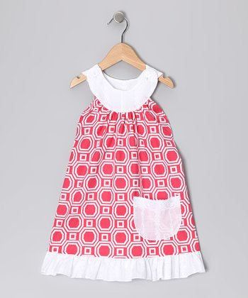 Pink Octagon Trapeze Dress - Toddler & Girls