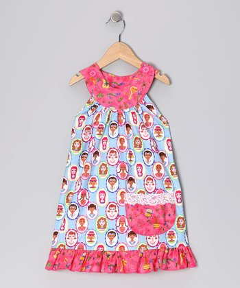 Pink Baby Doll Trapeze Dress - Toddler & Girls