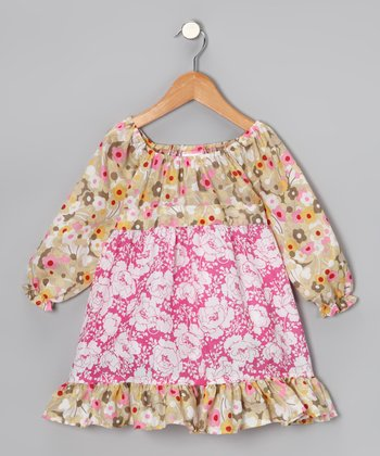 Tan Daisy Pattycake Dress - Toddler & Girls