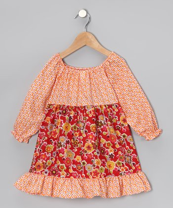 Red Daisiy Pattycake Dress - Toddler & Girls