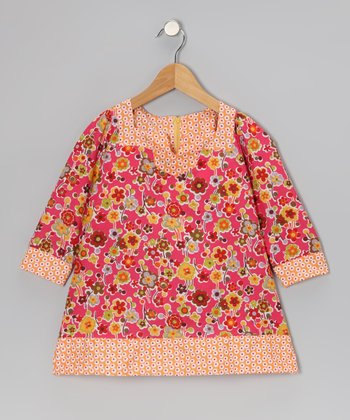 Pink Daisy Shift Dress - Toddler & Girls