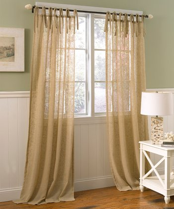 Oatmeal Danbury Laura Ashley Panel Curtain - Set of Two