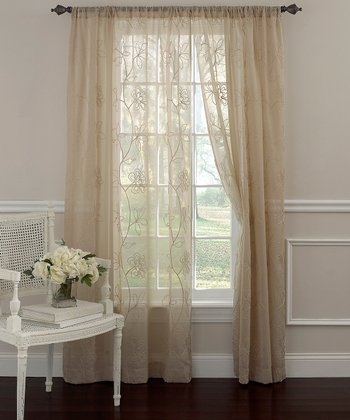 Taupe Frosting Laura Ashley Panel Curtain