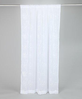 White Frosting Laura Ashley Panel Curtain