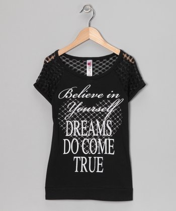 Black 'Believe in Yourself' Tee