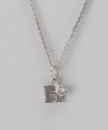 Silver 'H' Necklace