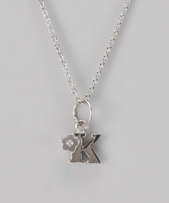 Silver 'K' Necklace