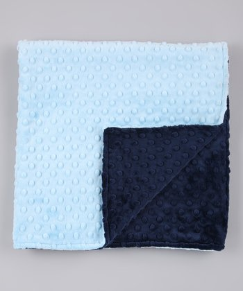 Blue & Navy Minky Receiving Blanket