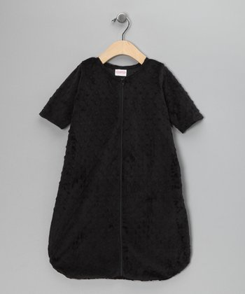 Black Minky Sleeping Sack - Infant