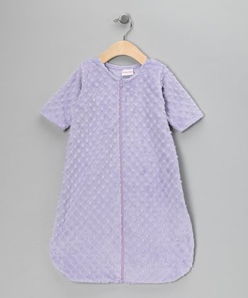 Lavender Minky Sleeping Sack - Infant