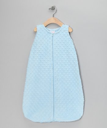 Blue Sleeveless Minky Sleeping Sack - Infant