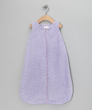 Lavender Sleeveless Minky Sleeping Sack - Infant