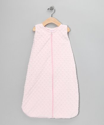 Pink Sleeveless Minky Sleeping Sack - Infant